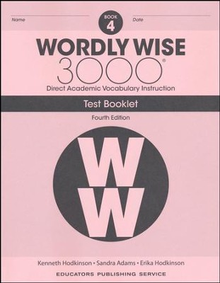 Wordly Wise 3000 Book 4 Tests (4th Edition)  -