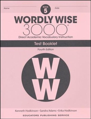 Wordly Wise 3000 Book 5 Tests (4th Edition)  -
