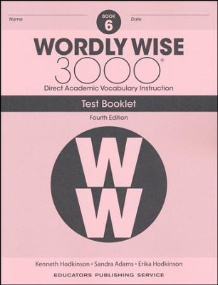 Wordly Wise 3000 Book 6 Tests (4th Edition)  -