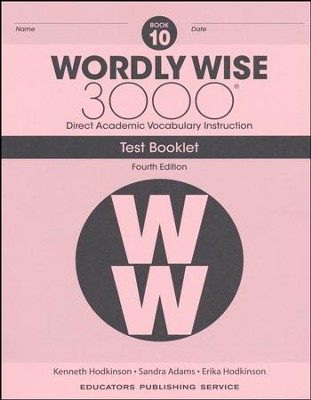 Wordly Wise 3000 Book 10 Tests (4th Edition)  -