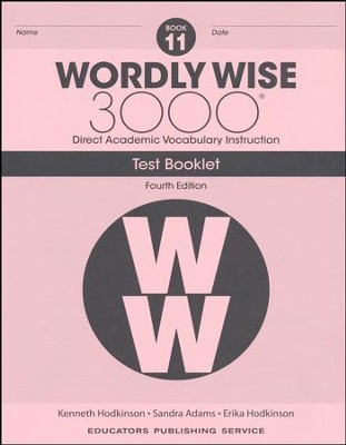 Wordly Wise 3000 Book 11 Tests (4th Edition)  -