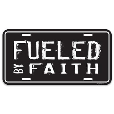 Fueled By Faith License Plate  -