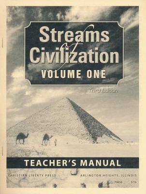 Streams of Civilization Volume 1 Teacher's Manual (3rd  Edition)  -