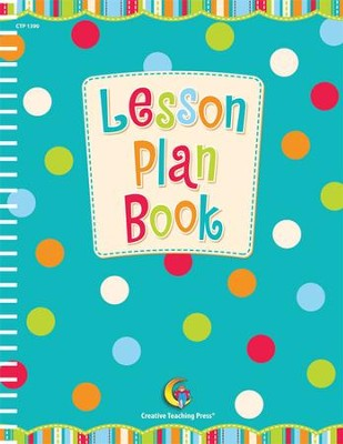 Dots on Turquoise Lesson Plan Book   -