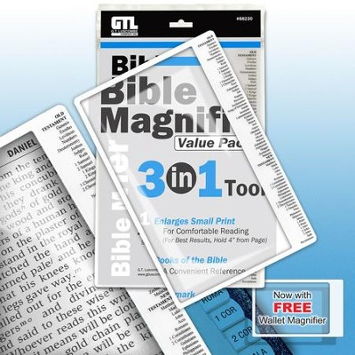 Bible Magnifier, 3 in 1 Tool  -
