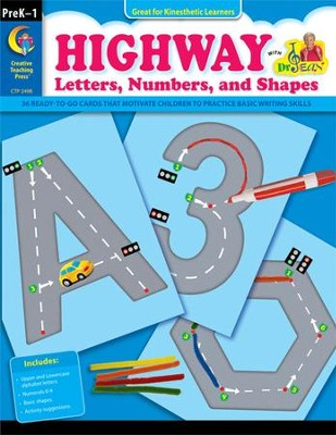 Highway Letters, Numbers, and Shapes, Grades PreK-1   -