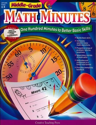 Math Minutes Middle-Grade   -