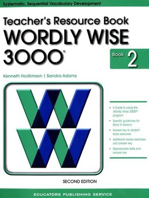 Wordly Wise 3000 Teacher Resource Book 2, 2nd Edition   -