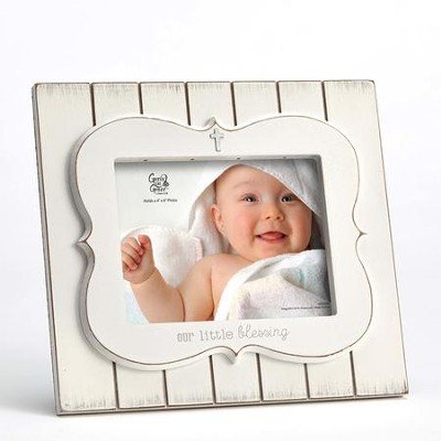 Our Little Blessing Photo Frame, White  -