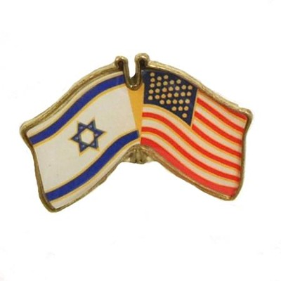 USA & Israel Flags Lapel Pin  -