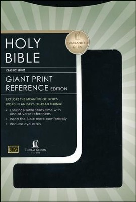 KJV Giant Print Reference Bible, Imitation Leather, black  -