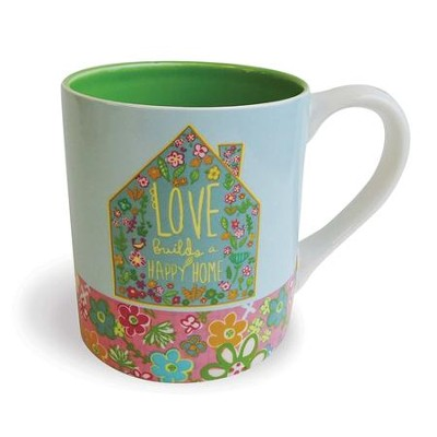 Love Builds A Happy Home Ceramic Mug  -     By: Amylee Weeks