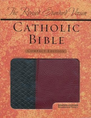 The Revised Standard Version Catholc Bible Compact Ed., Basketweave BK/BG, Bonded Leather  -