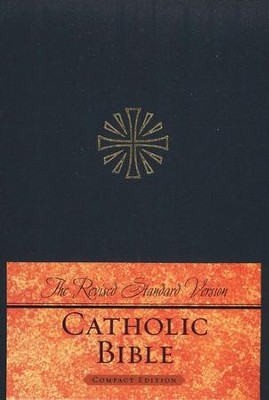 The Revised Standard Version Catholic Bible Compact Edition-hardcover, navy blue  -