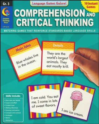 Language Games Galore: Comprehension and Critical Thinking, Grade 3  -