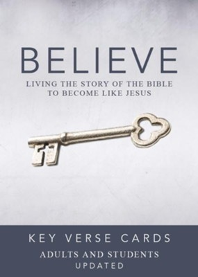 Believe Key Verse Cards: Adult/Student  -