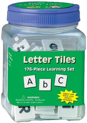 Tub of Letter Tiles: 176-Piece Learning Set   -