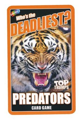 Top Trumps Card Game: Who's the Deadliest? Predators   -