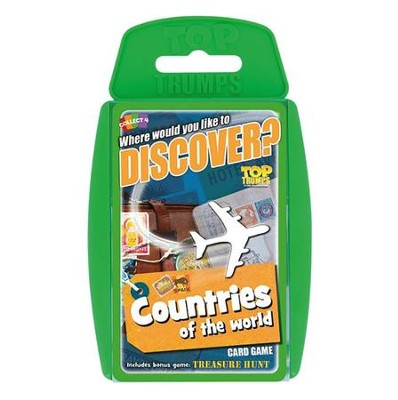 Top Trumps Card Game: Where Would You Like to Discover? Countries of the World  -