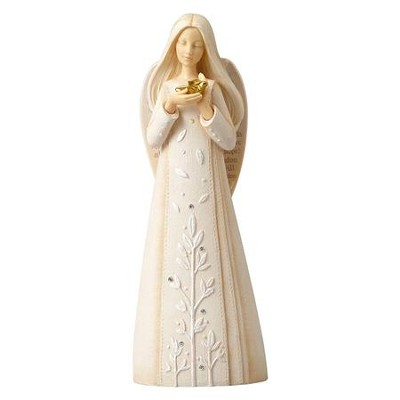 Foundations, Angel with Dove Figurine  -     By: Karen Hahn