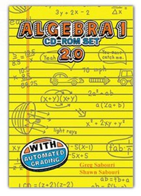 Teaching Textbooks Algebra 1 CD-Rom Set, Version 2.0   -