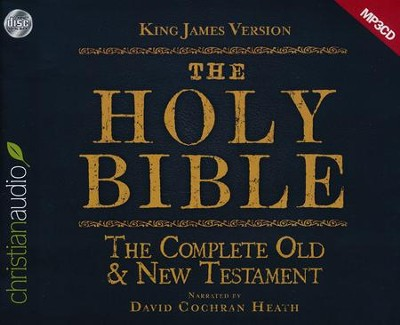 The Holy Bible in Audio - King James Version: The Complete Old & New Testament on MP3-CD  -     Narrated By: David Cochran Heath     By: David Cochran Heath (Reader)