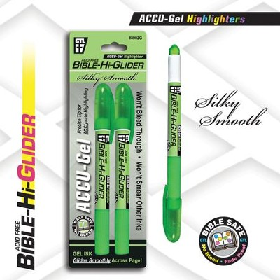 Gel Bible Highlighter 2 Pack, Green  -