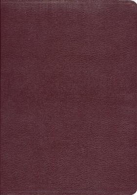 KJV Ryrie Study Bible Burgundy Bonded Leather Red Letter Thumb-Indexed  -