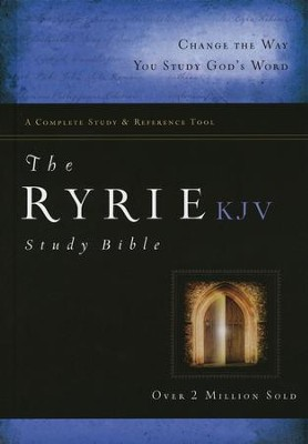KJV Ryrie Study Bible Hardcover, Red Letter   -