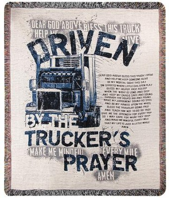 Trucker's Prayer Throw  -     By: American Cowboy