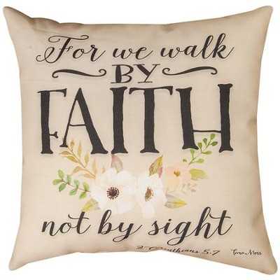 For We Walk By Faith Pillow   -     By: Tara Moss