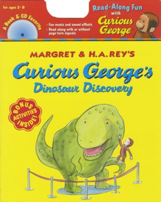 Curious George Dinosaur Discover Book + Cd  -     By: H.A. Rey