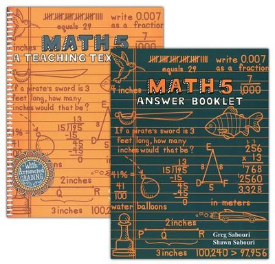 Teaching Textbooks Math 5 Workbook and Answer Key   -