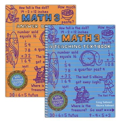 Teaching Textbooks Math 3 Workbook and Answer Key   -