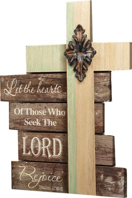 Rejoice Cross Plaque  -
