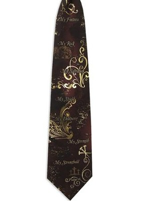 My Rock, My Strength Silk Tie   -