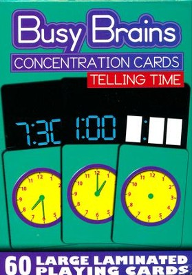 Concentration Cards: Telling Time (Package of 60)   -