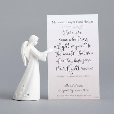 Angel, Memorial Prayer Card Holder  -     By: Karen Hahn