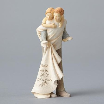 Dad and Daughter Figurine, Hold Onto                                  -     By: Karen Hahn