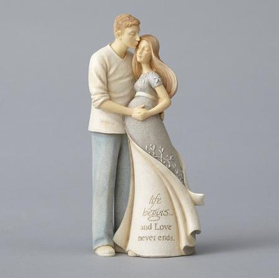 Pregnant Couple Figurine, Life Begins and Love Never Ends  -     By: Karen Hahn