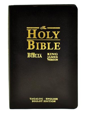 Ang Biblia (Tagalog)-King James Version (English) Bilingual Bible: Black Bonded Leather, Indexed  -     By: Philipines Bible Society