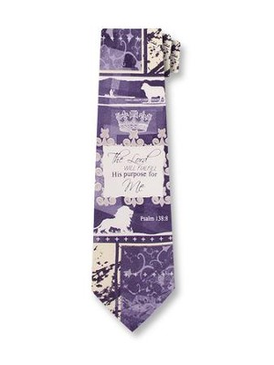 The Lord Will Fulfill His Purpose For You Silk Tie  -