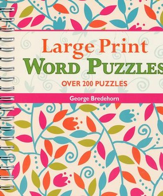 Large Print Word Puzzles  -     By: George Bredehorn