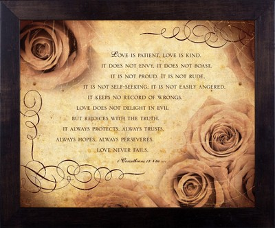 Love, 1 Corinthians 13, Framed Print  -     By: Julie Chen