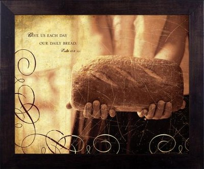 Daily Bread, Luke 11, Framed Print  -     By: Julie Chen