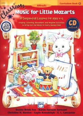 Music for Little Mozarts Classroom Curriculum Book 1  & Audio CD  -