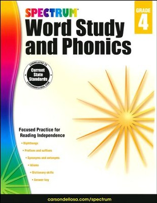 Spectrum Phonics & Word Study Grade 4 (2014 Update)  -