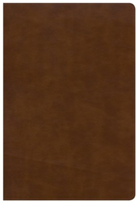 NKJV Large Print Ultrathin Reference Bible--soft leather-look, British tan (indexed)  -