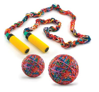 Make it Yourself Rubber Band Jump Rope Kit  -