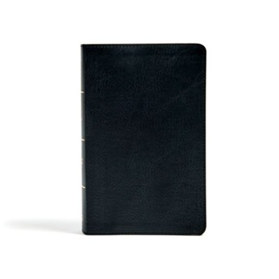 CSB Single-Column Personal-Size Bible--soft leather-look, black  -